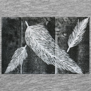 Ink Print Falling Feathers - Men's Premium T-Shirt