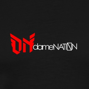 dameNATION black/red/white - Men's Premium T-Shirt