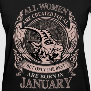 Women the best are born in January - Women's T-Shirt