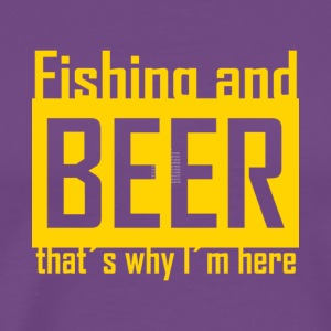 Awesome Fishing And Beer T Shirt - Men's Premium T-Shirt