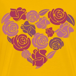 Roses Heart - Men's Premium T-Shirt