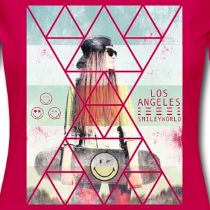 SmileyWorld Los Angeles Skateboarder - Women's Premium Long Sleeve T-Shirt