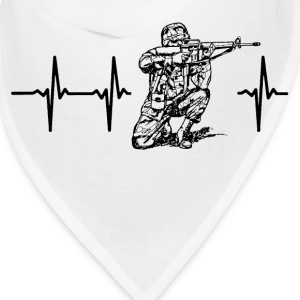 My heart beats for soldiers Caps - Bandana