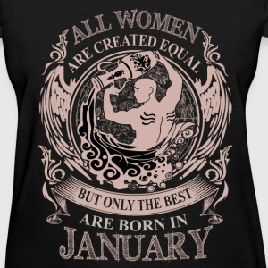 Women the best are born in January Aquarius - Women's T-Shirt