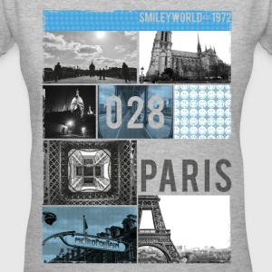 SmileyWorld Paris Eiffel Tower Notre Dame - Women's V-Neck T-Shirt