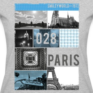 SmileyWorld Paris Eiffel Tower Notre Dame - Women's 50/50 T-Shirt