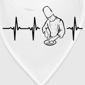My heart beats for chefs Caps - Bandana
