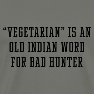Vegetarian Indian Word - Men's Premium T-Shirt