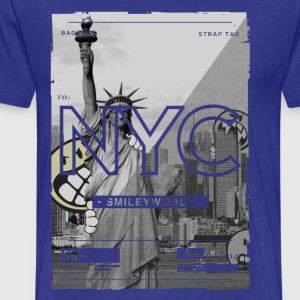 SmileyWorld New York City Statue of Liberty - Men's Premium T-Shirt