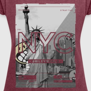 SmileyWorld New York City Statue of Liberty - Women´s Roll Cuff T-Shirt