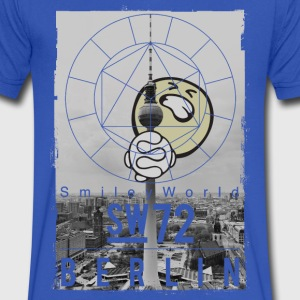 SmileyWorld - Berlin TV Tower - Men's V-Neck T-Shirt by Canvas