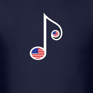 USA Music Note - Men's T-Shirt