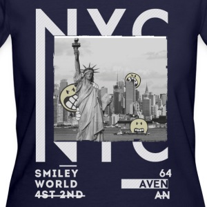 SmileyWorld NYC Statue Of Liberty - Women's 50/50 T-Shirt