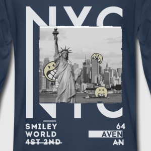 SmileyWorld NYC Statue Of Liberty - Kids' Premium Long Sleeve T-Shirt