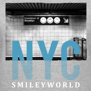 SmileyWorld New York City Downtown Brooklyn - Women's V-Neck T-Shirt