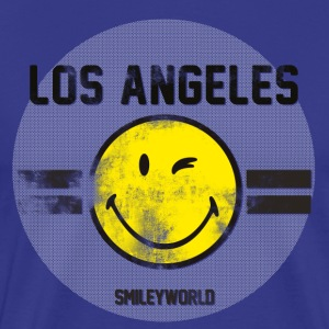 SmileyWorld Los Angeles Winking Smiley - Men's Premium T-Shirt