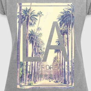 SmileyWorld Los Angeles City Of Dreams - Women´s Roll Cuff T-Shirt