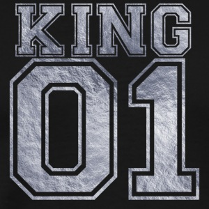 King_01_silver_1 - Men's Premium T-Shirt