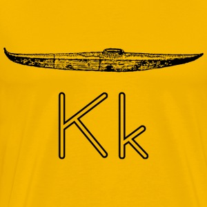 letra K de Kayak - Men's Premium T-Shirt