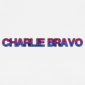 Charlie Bravo Plain Text - Men's Premium T-Shirt