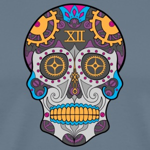Clock Sugar Skull - Men's Premium T-Shirt