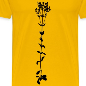 Common centaury (big, silhouette) - Men's Premium T-Shirt