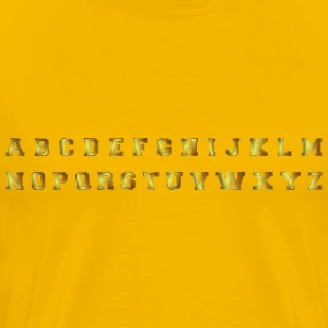 Bronze Alphabet - Men's Premium T-Shirt
