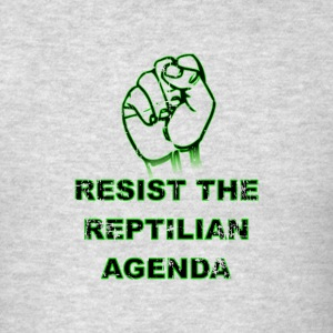 Resist The Reptilian Agenda Green Version - Men's T-Shirt