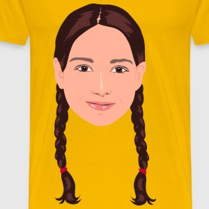 Braided Hair Girl Portrait - Men's Premium T-Shirt