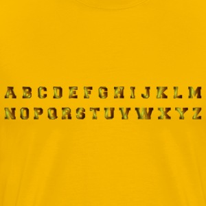 Dark Bronze Alphabet - Men's Premium T-Shirt