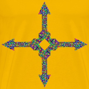 Prismatic Low Poly Arrow Art 4 - Men's Premium T-Shirt