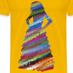 Low Poly Prismatic Streaked Formal Gown Woman - Men's Premium T-Shirt