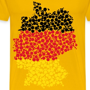 Germany Map Flag Circles - Men's Premium T-Shirt