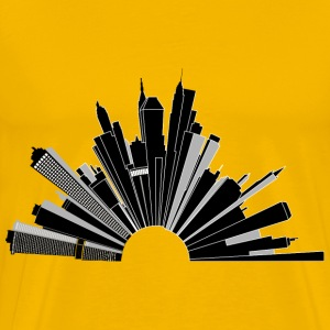 Cityscape Skyline 180 - Men's Premium T-Shirt