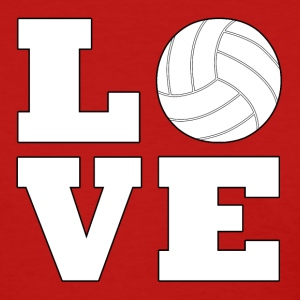 Volleyball LOVE Cute Women's T-shirt - Women's T-Shirt