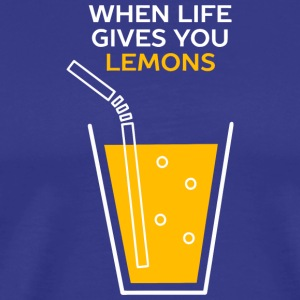 Funny Lemonade Idiom - Men's Premium T-Shirt