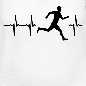 My heart beats for running T-Shirts - Women's Maternity T-Shirt
