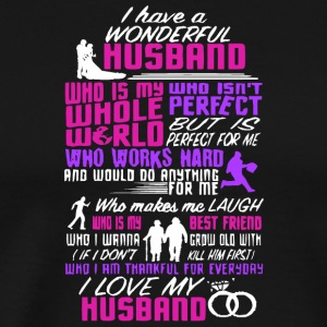 I Love My Husband T Shirt - Men's Premium T-Shirt