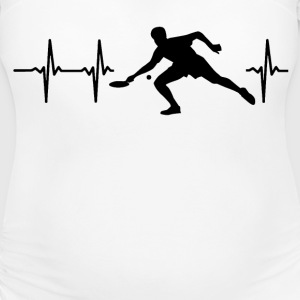 My heart beats for table tennis T-Shirts - Women's Maternity T-Shirt