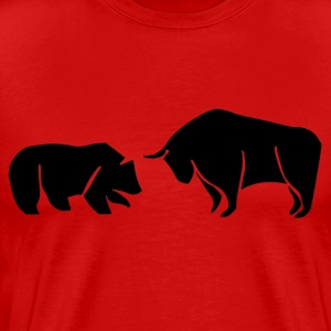 Bear Vs. Bull - Men's Premium T-Shirt