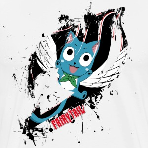 Fairy Tail, Happy - Men's Premium T-Shirt