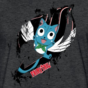 Fairy Tail, Happy - Fitted Cotton/Poly T-Shirt by Next Level