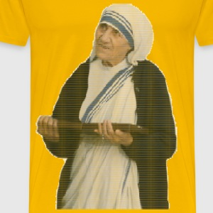 Mother Teresa Mosaic Ellipses - Men's Premium T-Shirt