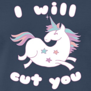 I Will Cut You Unicorn T Shirt - Men's Premium T-Shirt