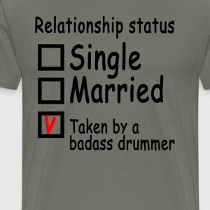 personalized_relationship_status_drummer - Men's Premium T-Shirt