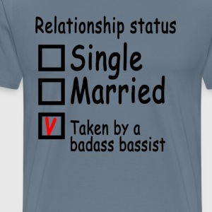 personalized_relationship_status_bassist - Men's Premium T-Shirt