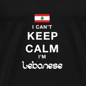 I CAN'T KEEP CALM - i'am Lebanese T-Shirts - Men's Premium T-Shirt