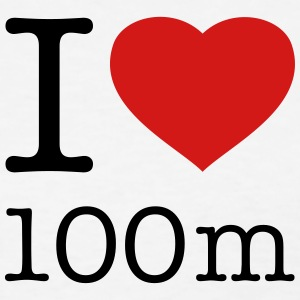 I LOVE 100 m - Women's T-Shirt