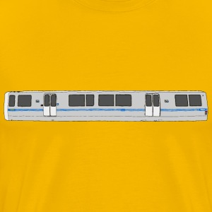 Bart Train Exterior - Men's Premium T-Shirt