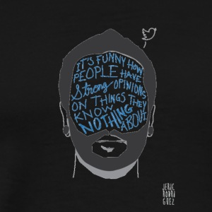 Beard Illustration (Quote) - Men's Premium T-Shirt